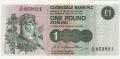 Clydesdale Bank Plc 1 And 5 Pounds 1 Pound, 29. 3.1982
