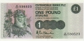 Clydesdale Bank Plc 1 And 5 Pounds 1 Pound,  5. 1.1983