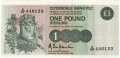 Clydesdale Bank Plc 1 And 5 Pounds 1 Pound, 25.11.1985