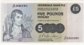 Clydesdale Bank Plc 1 And 5 Pounds 5 Pounds, 29. 3.1982