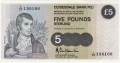 Clydesdale Bank Plc 1 And 5 Pounds 5 Pounds,  5. 1.1983