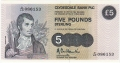 Clydesdale Bank Plc 1 And 5 Pounds 5 Pounds, 28. 6.1989
