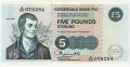 Clydesdale Bank Plc 1 And 5 Pounds 5 Pounds,  1. 9.1994
