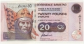 Clydesdale Bank Plc Higher Denominations 20 Pounds,  1.11.1997