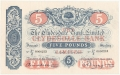 Clydesdale Bank To 1949 5 Pounds,  5. 5.1943
