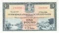 Clydesdale And North Of Scotland Bank Ltd 1 Pound,  1. 5.1958