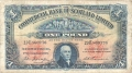 Commercial Bank Of Scotland Ltd 1 Pound,  1.12.1928