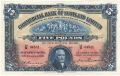 Commercial Bank Of Scotland Ltd 5 Pounds,  6. 8.1935
