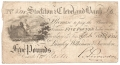 English Provincial Banks 5 Pounds, 19.10.1812