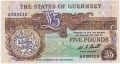 Guernsey 5 Pounds, from 1980