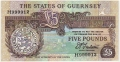 Guernsey 5 Pounds, from 1991