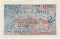 Jersey 2 Shillings, 1942 to 1945