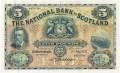 National Bank Of Scotland Ltd 5 Pounds,  2. 7.1928
