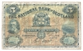 National Bank Of Scotland Ltd 5 Pounds,  1. 7.1936