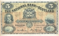National Bank Of Scotland Ltd 5 Pounds,  3. 1.1944