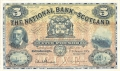 National Bank Of Scotland Ltd 5 Pounds,  1.11.1949