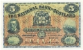 National Bank Of Scotland Ltd 5 Pounds,  1. 7.1955
