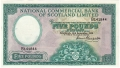 National Commercial Bank Of Scotland 5 Pounds, 16. 9.1959