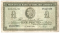 Provincial Bank Of Ireland Ltd 1 Pound,  1. 3.1954