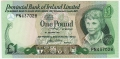 Provincial Bank Of Ireland Ltd 1 Pound,  1. 1.1977