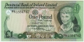 Provincial Bank Of Ireland Ltd 1 Pound,  1. 1.1979