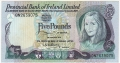 Provincial Bank Of Ireland Ltd 5 Pounds,  1. 1.1979