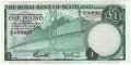 Royal Bank Of Scotland Ltd 1969 To 1981 1 Pound, 19. 3.1969