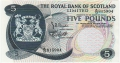 Royal Bank Of Scotland Ltd 1969 To 1981 5 Pounds, 19. 3.1969