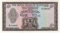 Royal Bank Of Scotland Ltd 1969 To 1981 10 Pounds, 19. 3.1969