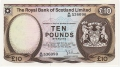 Royal Bank Of Scotland Ltd 1969 To 1981 10 Pounds,  5. 1.1972