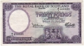 Royal Bank Of Scotland Ltd 1969 To 1981 20 Pounds, 19. 3.1969