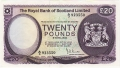 Royal Bank Of Scotland Ltd 1969 To 1981 20 Pounds,  1. 5.1981