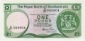Royal Bank Of Scotland Plc 1 And 5 Pounds 1 Pound,  1. 5.1986
