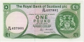 Royal Bank Of Scotland Plc 1 And 5 Pounds 1 Pound, 17.12.1986