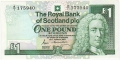 Royal Bank Of Scotland Plc 1 And 5 Pounds 1 Pound, 25. 3.1987