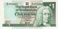 Royal Bank Of Scotland Plc 1 And 5 Pounds 1 Pound, 24. 3.1992