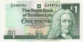 Royal Bank Of Scotland Plc 1 And 5 Pounds 1 Pound, 27. 6.2000
