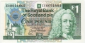 Royal Bank Of Scotland Plc 1 And 5 Pounds 1 Pound,  8.12.1992
