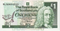 Royal Bank Of Scotland Plc 1 And 5 Pounds 1 Pound,  3.12.1994