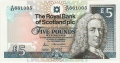 Royal Bank Of Scotland Plc 1 And 5 Pounds 5 Pounds, 13.12.1988