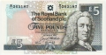 Royal Bank Of Scotland Plc 1 And 5 Pounds 5 Pounds, 23. 3.1994