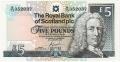 Royal Bank Of Scotland Plc 1 And 5 Pounds 5 Pounds, 27. 6.2000