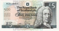 Royal Bank Of Scotland Plc 1 And 5 Pounds 5 Pounds,  1. 7.2005
