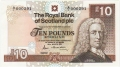 Royal Bank Of Scotland Plc Higher Values 10 Pounds, 25. 3.1987