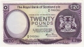 Royal Bank Of Scotland Plc Higher Values 20 Pounds,  3. 5.1982