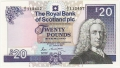 Royal Bank Of Scotland Plc Higher Values 20 Pounds, 25. 3.1987