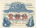 Royal Bank Of Scotland To 1967 1 Pound, 24. 3.1921