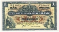 Royal Bank Of Scotland To 1967 1 Pound,  1. 8.1953