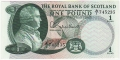 Royal Bank Of Scotland To 1967 1 Pound,  1. 9.1967