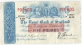 Royal Bank Of Scotland To 1967 5 Pounds,  1. 3.1934